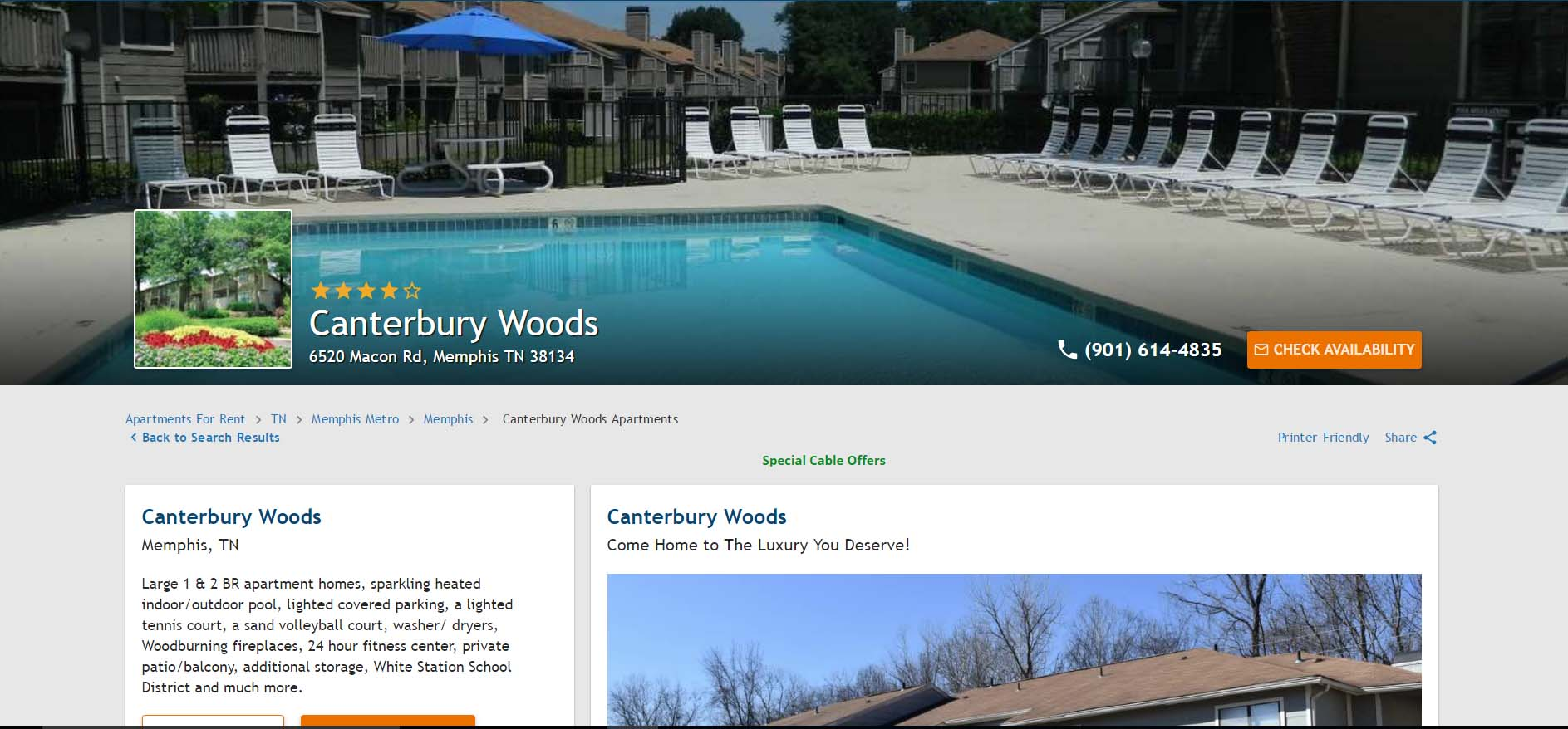 Get $150.0 if you signup using my referral at Canterbury Woods Apartments Memphis, Tennessee