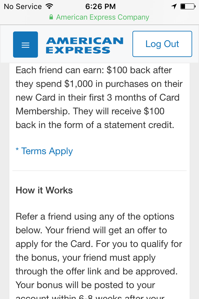 Amex $100 credit statement when you spend $1000 in 3 months