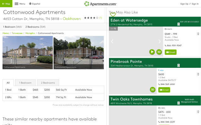Get $50.0 if you signup using my referral at Cottonwood Apartments Memphis, Tennessee