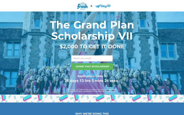 Easy to apply for $2000 scholarship