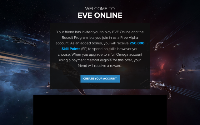 EVE Online Trial with no time limit and 250,000 bonus Skill Points