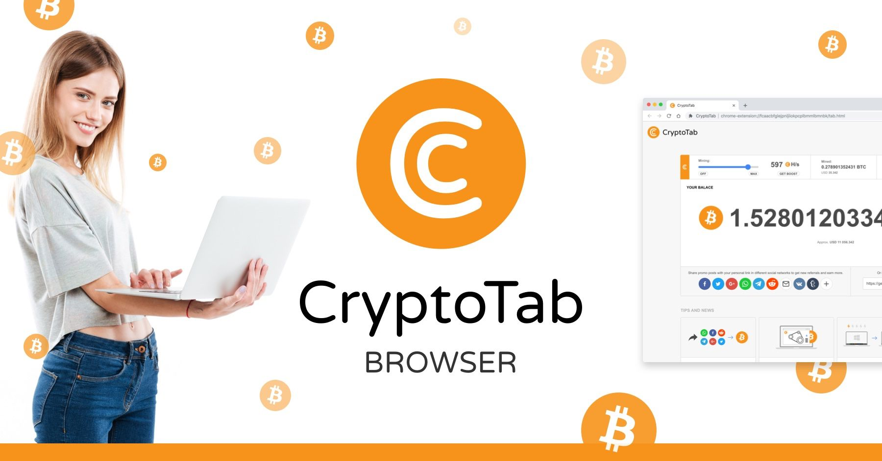 Earn Bitcoin while you browse the Internet for FREE
