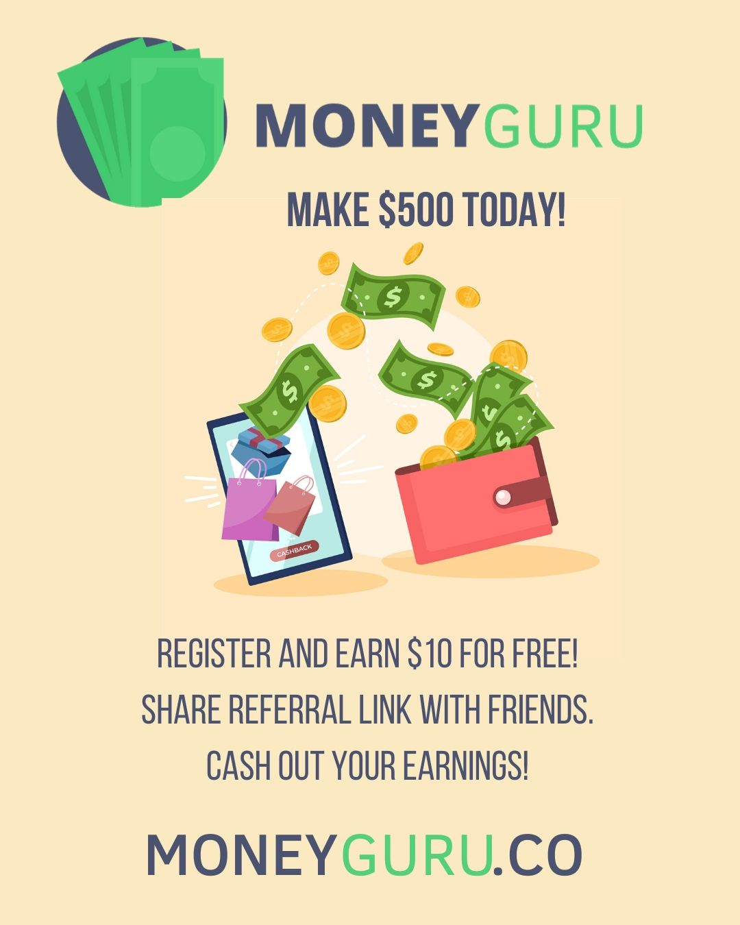 Sign up today for a $10.00 bonus!