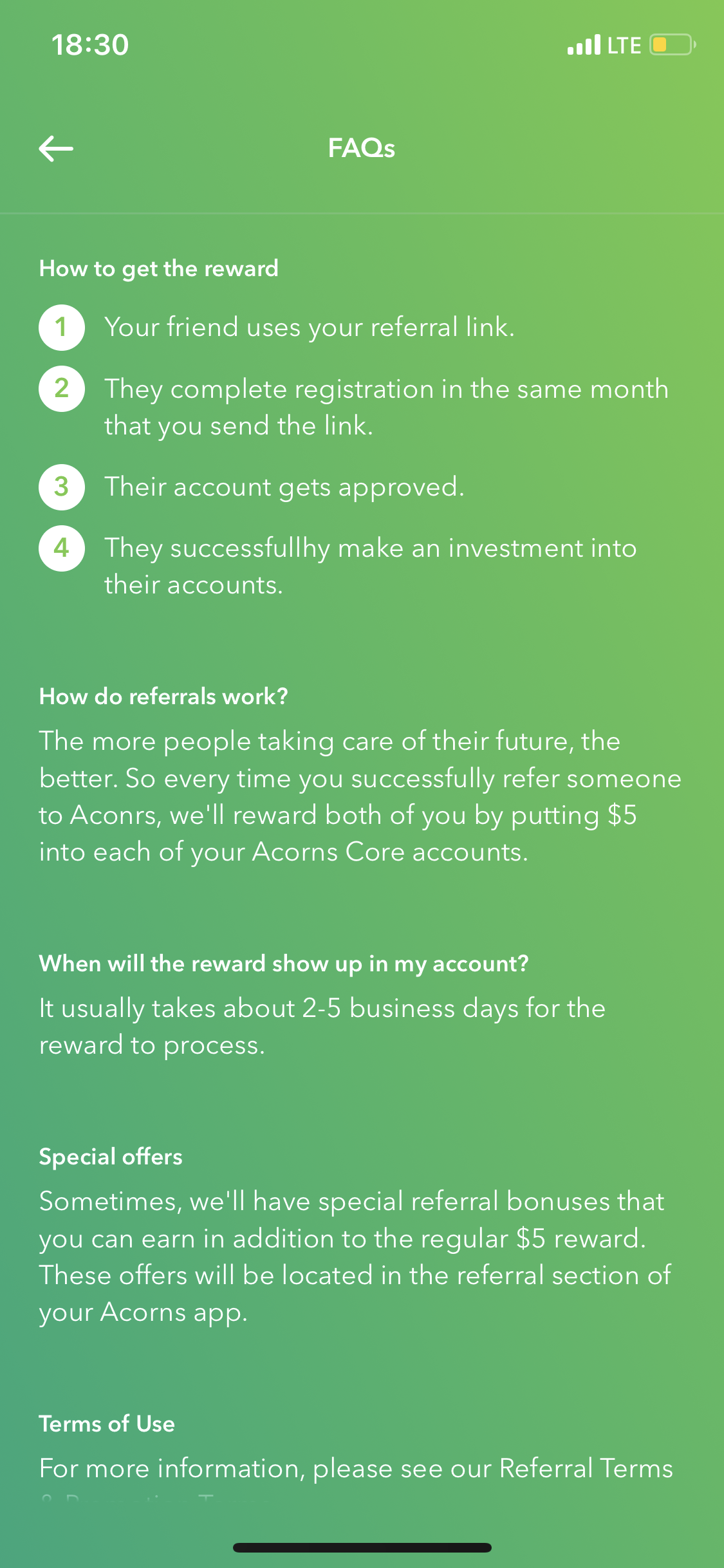 Get $5 of free stocks when you sign up for Acorns with the following link and make an initial investment of $5 minimum