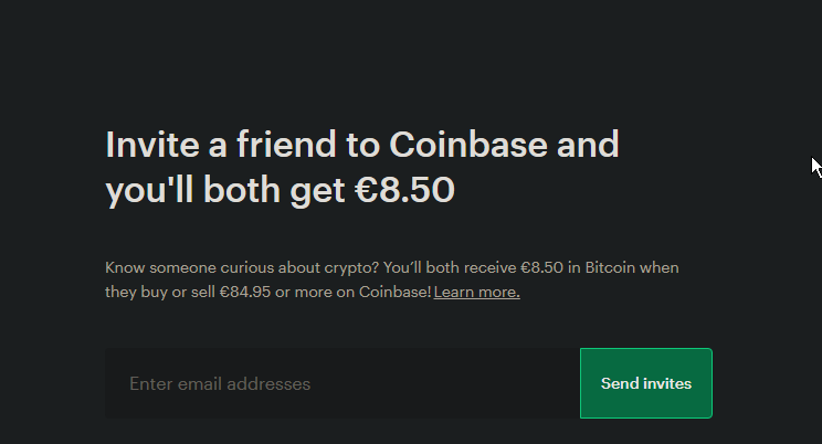 Get $10 in Bitcoin by signing up to Coinbase