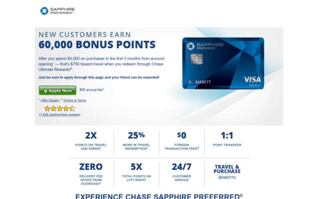 You'll get 60,000 Bonus Points