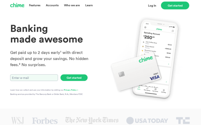 Get $50 through Chime