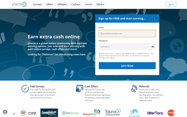 Earn cash for taking free surveys