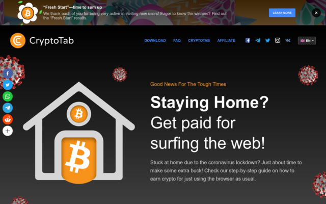 Staying Home?  Get paid for surfing the web!