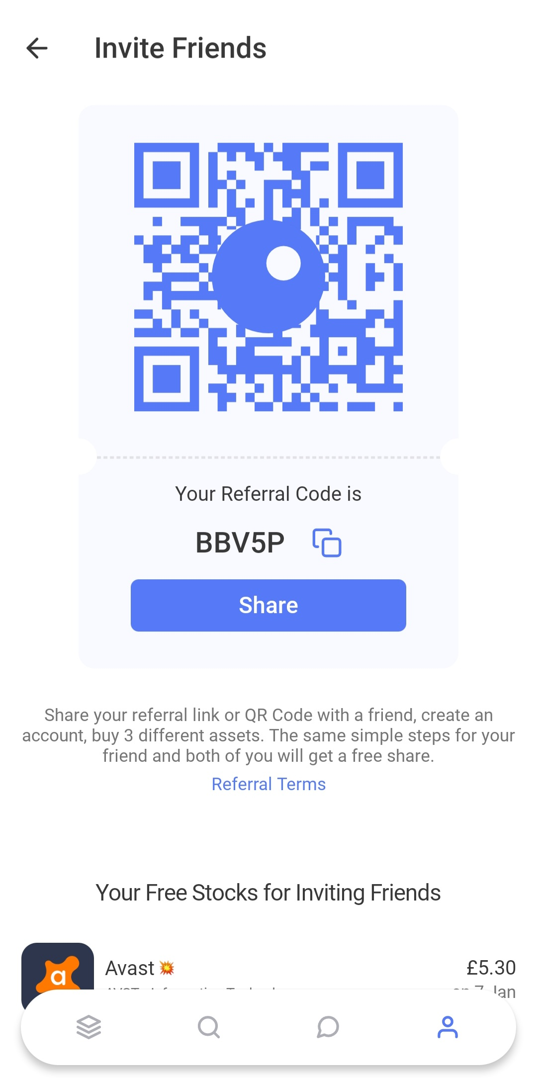 Get one free share when using Orca referral code to sign up