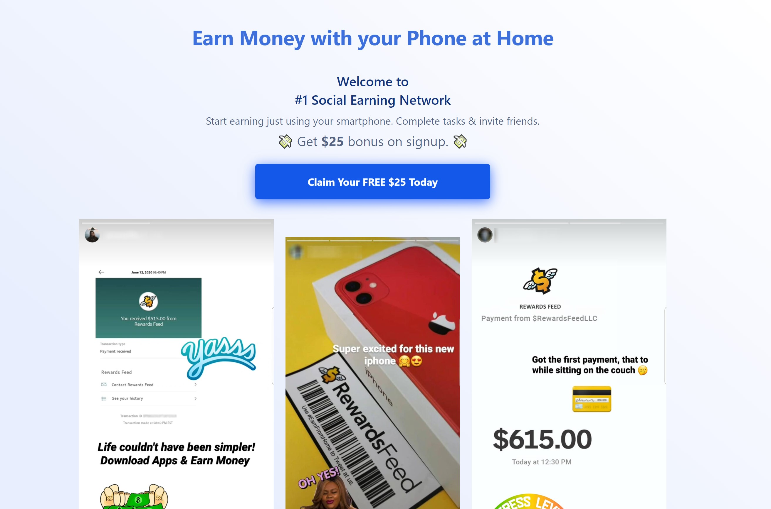 $25 Sign Up for joining this website. It is fun and easy