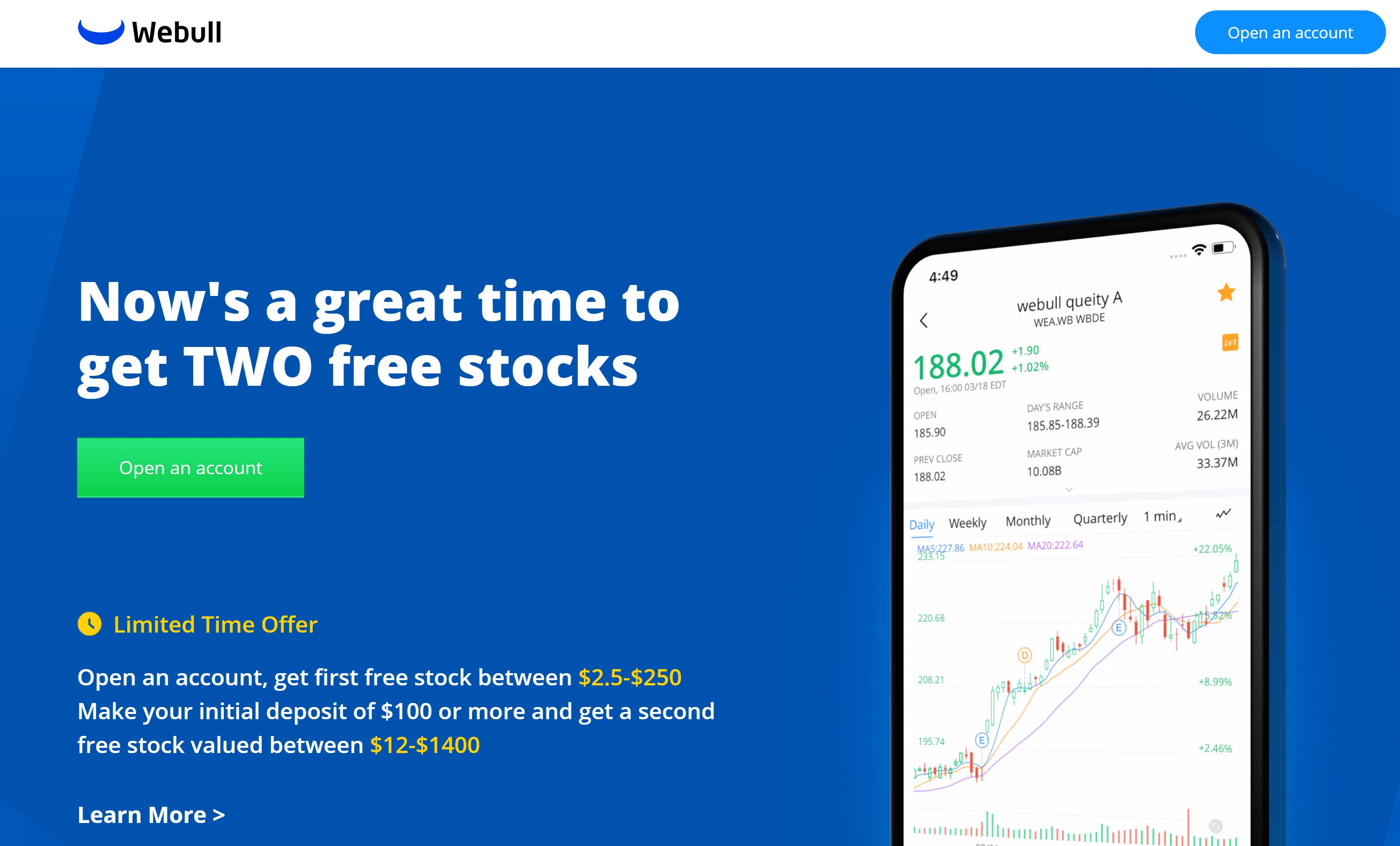 Bank on free stocks and let them grow the market is REBOUNDING!!