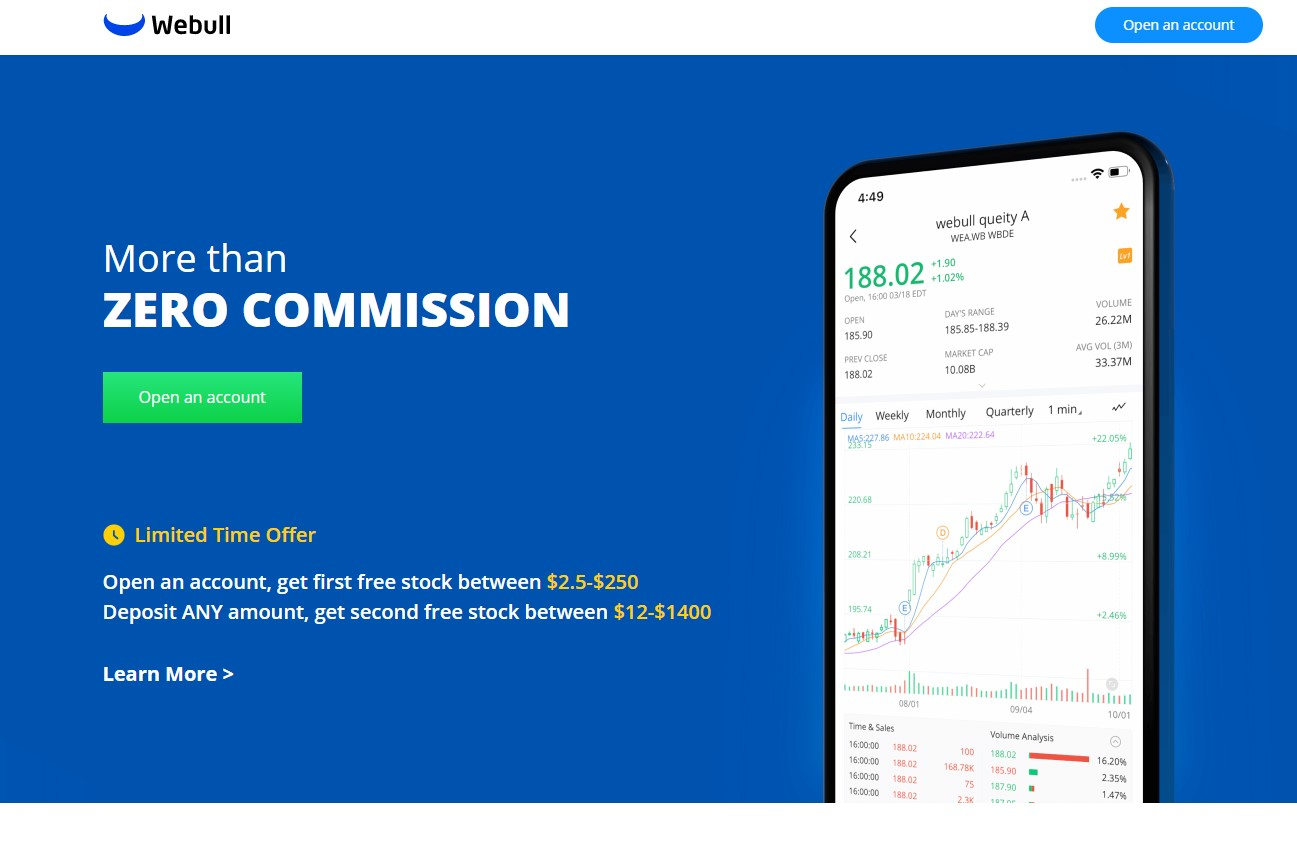 Get 2 free stocks on Webull