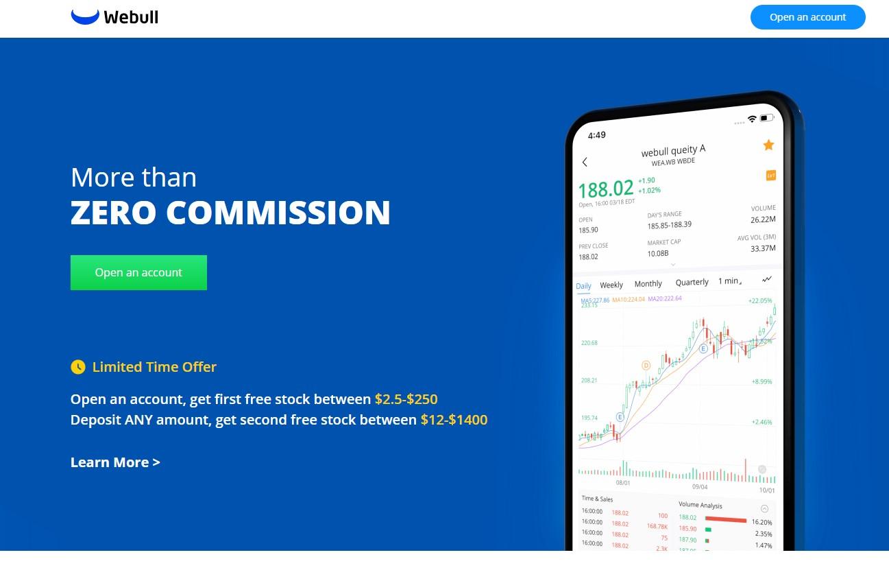 Get 2 free stocks on Webull