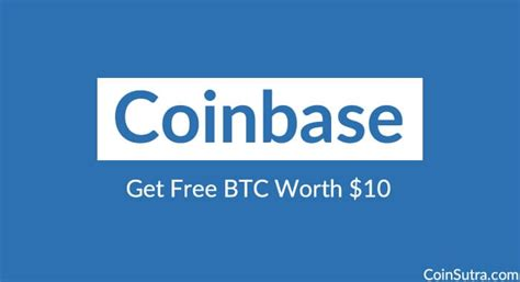 Get $10 in Bitcoin free from Coinbase