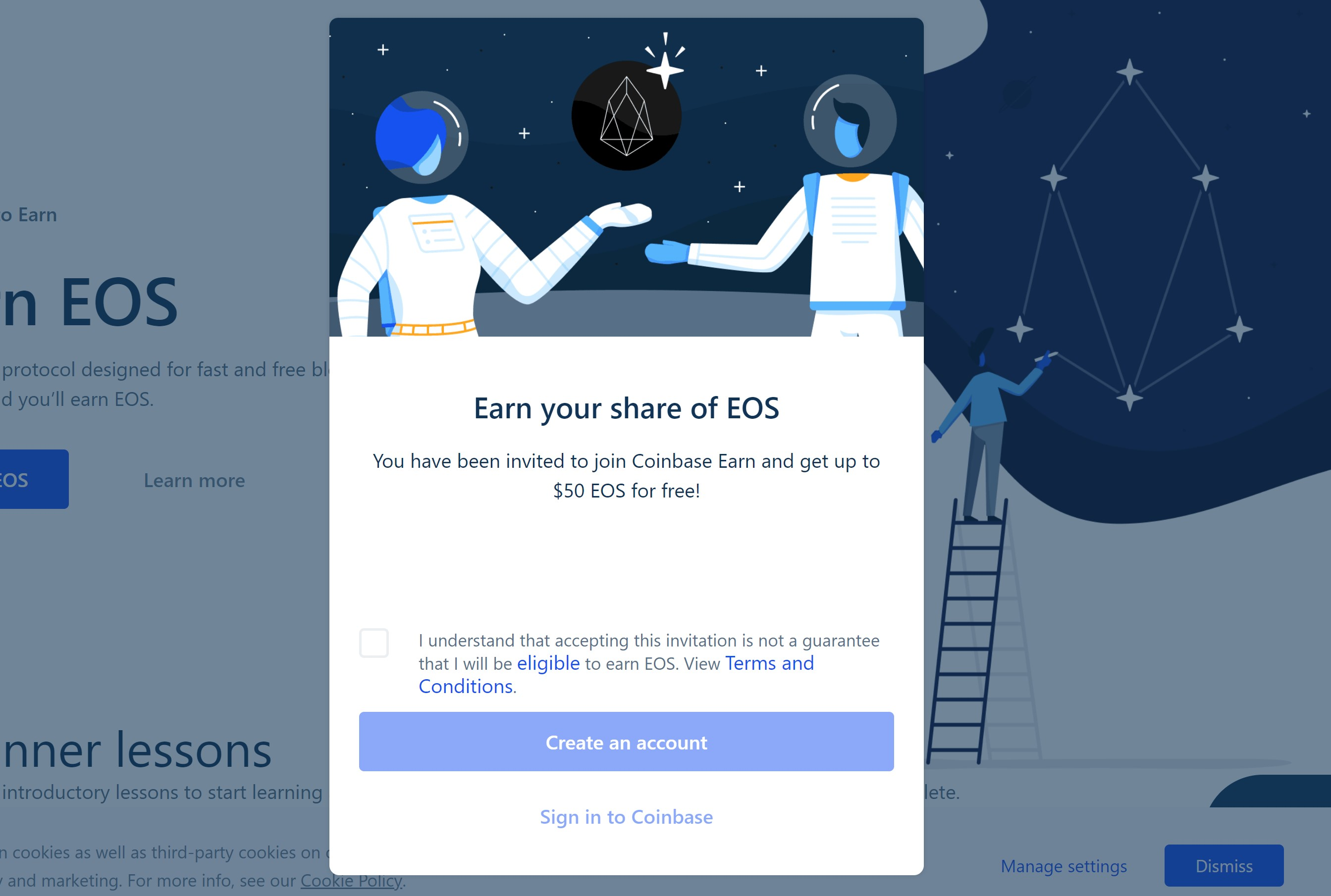 Earn $10 worth of EOS when you join using my link