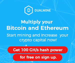 Get 100GH/s hash power for free on sign up
