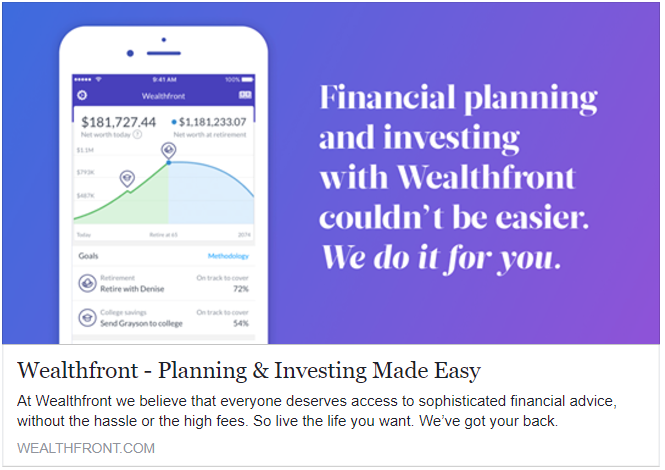 Get $15,000 managed free at WealthFront