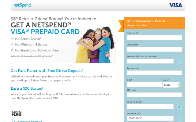 Get $20 when you load your card with $40