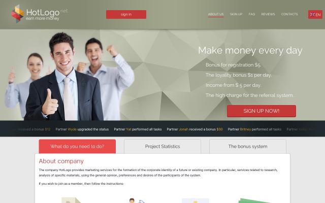 Earn money to look at company logos $5 sign up bonus