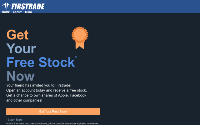 Receive free stock shares when you use my link