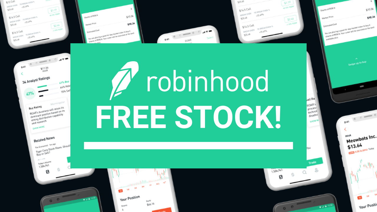 Join Robinhood to get a free stock!