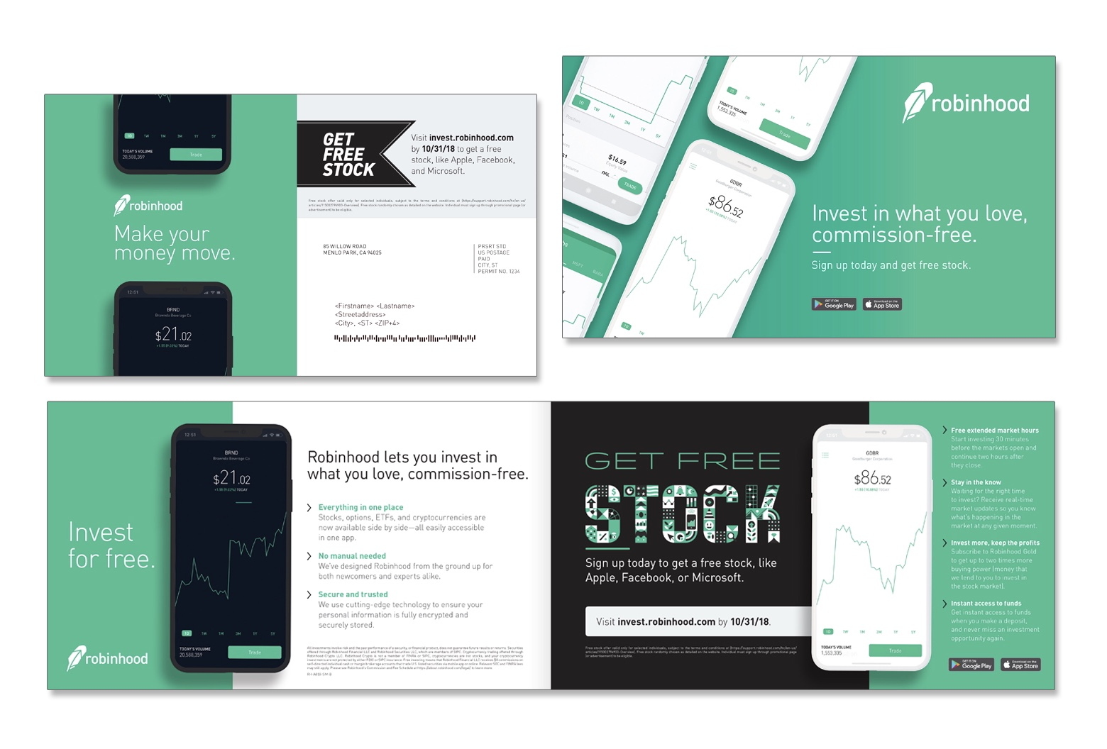 You now have a claim to a stock like Apple, Ford, or Facebook. In order to keep this claim to your stock, sign up and join Robinhood using my link!