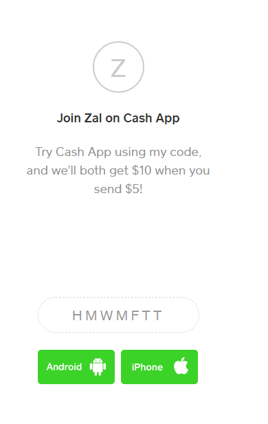 Get Free $10 After sending your first $5 With Cash App