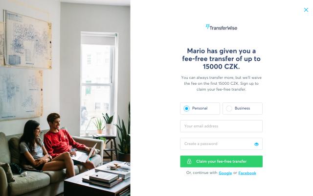 First money transfer fee free!