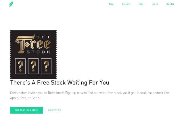 Join free to receive a free stock