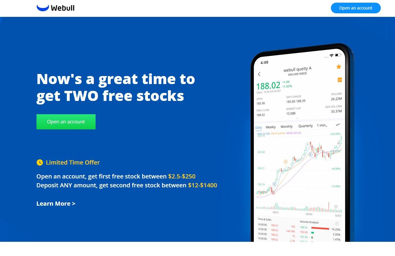 Receive two FREE STOCKS plus two FREE STOCKS per referral!