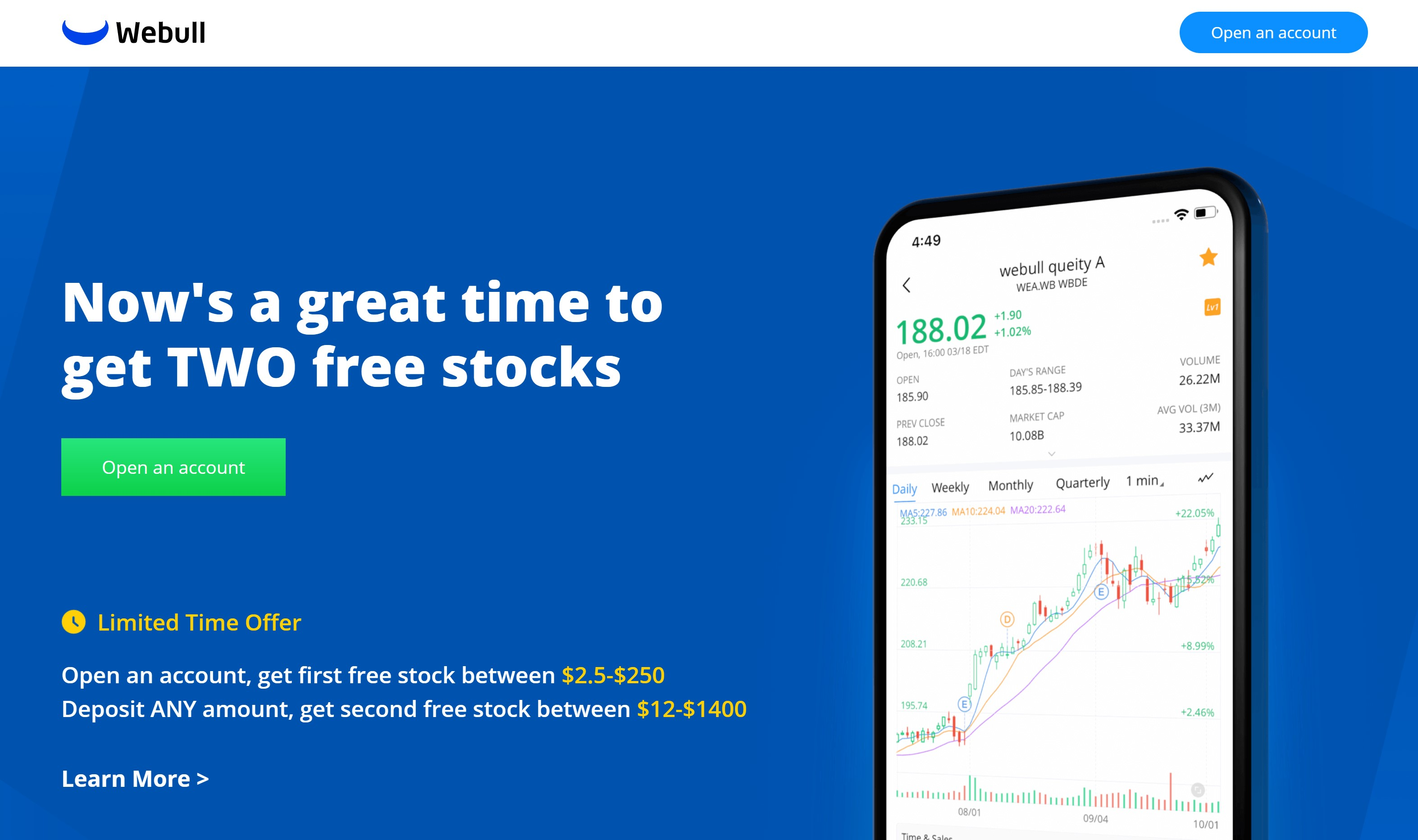 Earn 4 free shares on webull