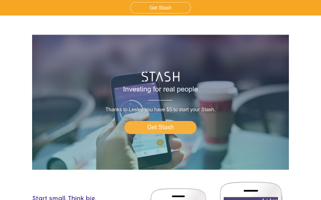 Stash Invest- $5 Credit towards your first Stock investment!
