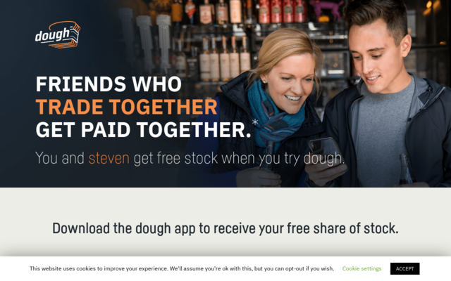 Get a free stock when you sign up with Dough