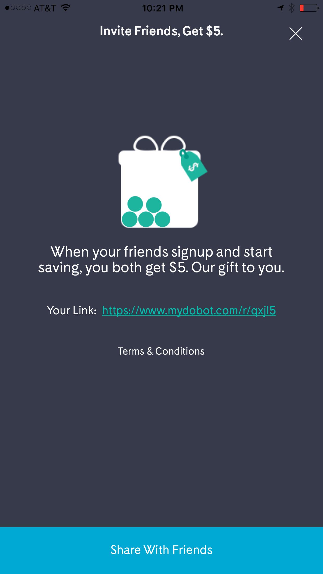 Free $5 bonus when you add $5 to Dobot