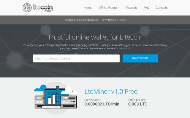 Free LTC Miner! Get 0.0035 per day!