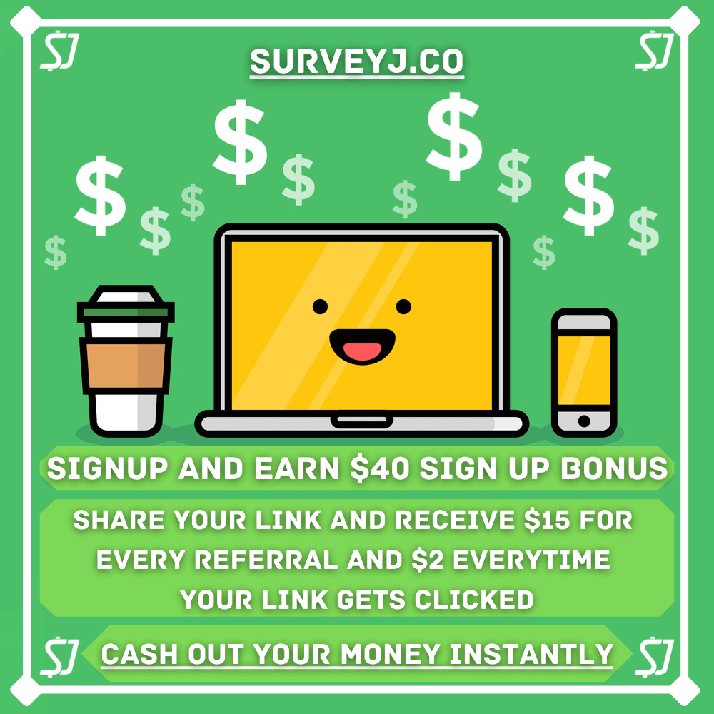 Get $ 40 if you sign up using my link and complete surveys and earn lot of cash by completing tasks.