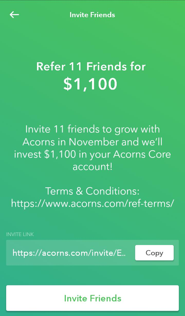 $5 Credit When You First Start Investing & $1100 Credit When You Invite 11 Friends