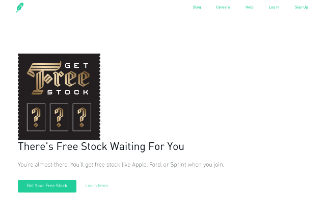 Join Rboinhood the Free stock trading app and get a FREE stock just for signing up!