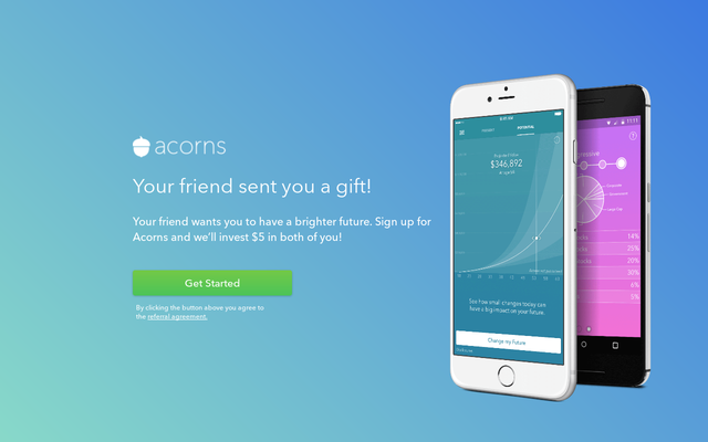 Get $5 Cash Bonus By Acorns Sign Up