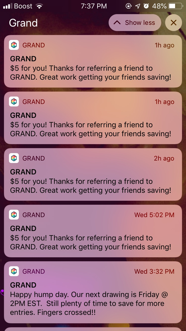 Get $5 for Joining Grand  and Saving Money