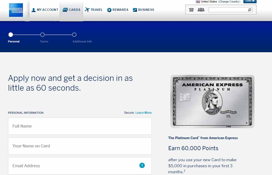 Amex platinum 60000 points after $5000 spend