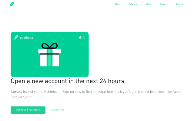 Free stock with every referral