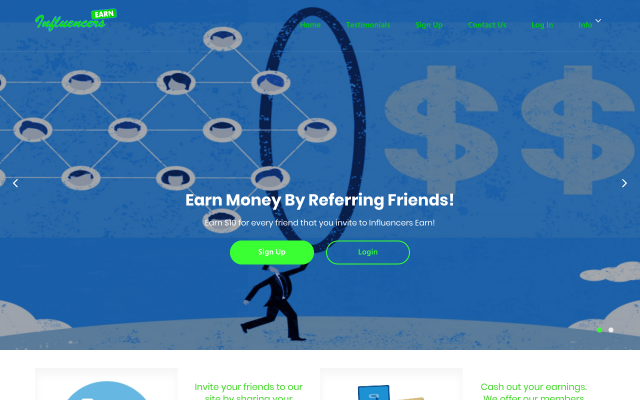Make Money Online Referring Friends & Family to Influencersearn