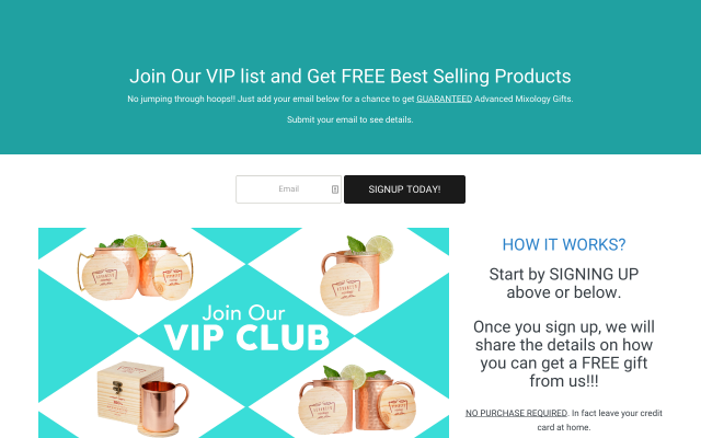 Advanced Mixology VIP List Referral