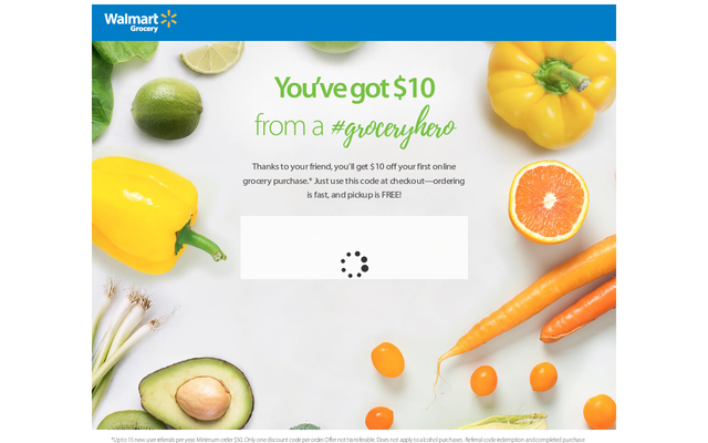 Get $10 on Walmart Grocery Online using my Referral Link