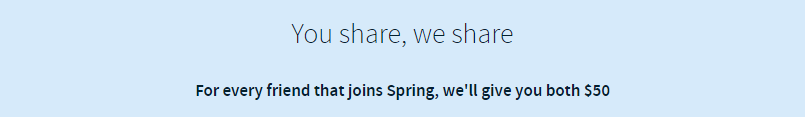 Get $50 When You Join Spring Rewards