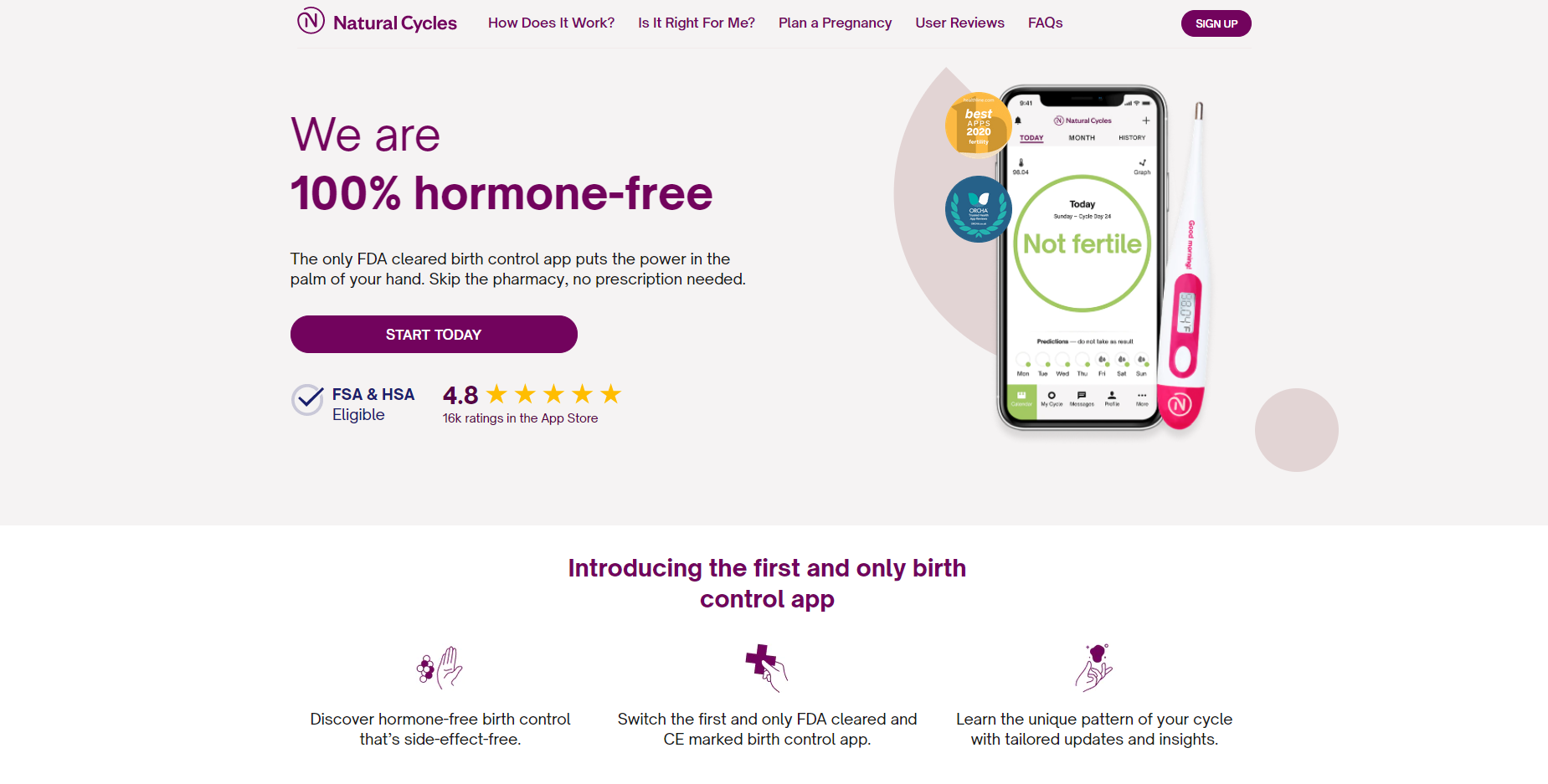 Get 25% off annual subscription to Natural Cycles birth control app, plus a free basal thermometer