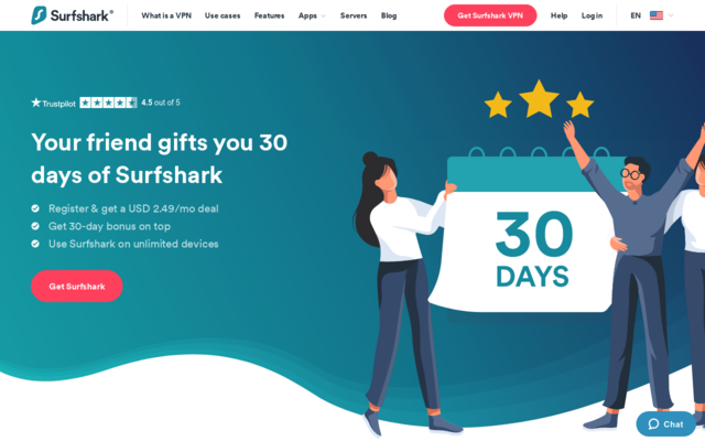 Get 30 days of free VPN using my link