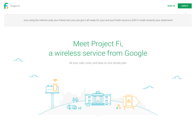 Get $20 Fi Credit by switching to Google Project Fi!